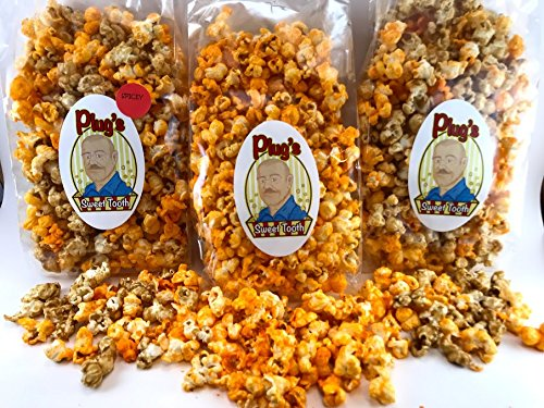 Find Discount Plug's Sweet Tooth Gourmet Popcorn Cheddar Bomb Trio