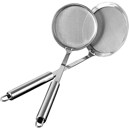 Stainless Steel Skimmer Spoon Mesh Strainer for Kitchen Cook Fat Oil Filter