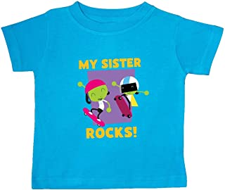 inktastic My Sister Rocks with Dot and Dee Baby T-Shirt - PBS Kids