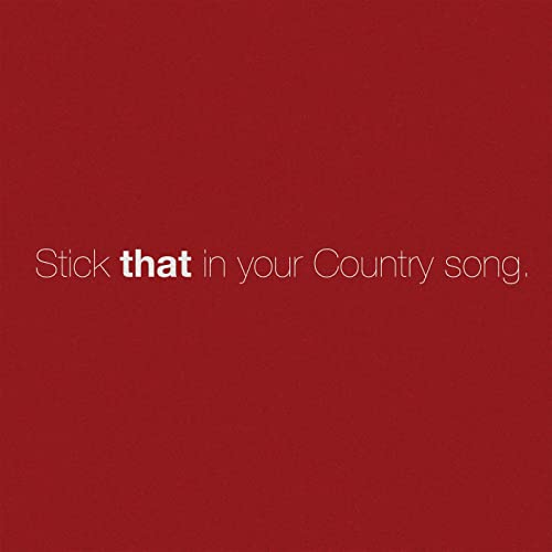 Stick That In Your Country Song