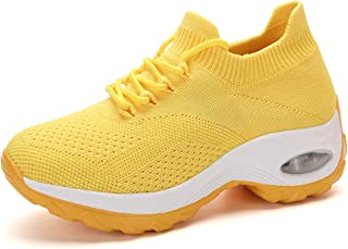 Kuason Femmes Air Respirant Mesh Sports Chaussures de Course Choc Absorbant Trainer Courir Sneakers Outdoors Trainers Trai...