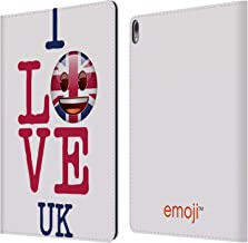 Official Emoji UK I Love My Country Leather Book Wallet Case Cover Compatible for iPad Pro 12.9 (2018)