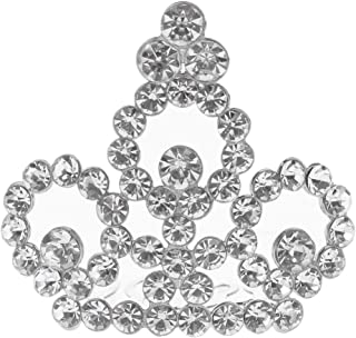 Flameer Girls Princess Mini Tiara Crown With Comb Headwear Wedding Party Hair Accessory - Silver, as described
