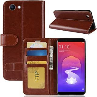 YPshell Phone Case Crazy Horse Texture Horizontal Flip Leather Case for OPPO Realme 1 & F7 Youth A73S, with Wallet & Holde...