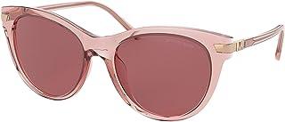 Michael Kors MK2112U Bar Harbor Cat Eye Sunglasses 54mm Transparent Brandy One Size