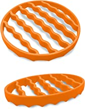 Pressure Cooker Rack (2 Pack), Silicone Roasting Rack for Baking Canning Steaming, Steamer Cooking Rack Accessories for 6-...