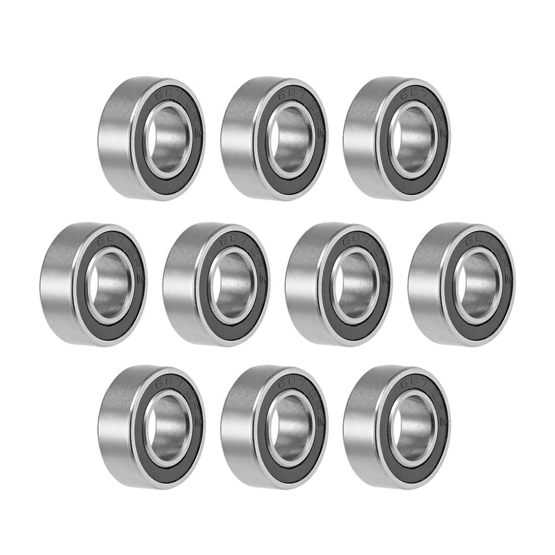 uxcell 687-2RS Deep Portland Bargain Mall Groove Ball Bearings OD 14mm 5 Inner Dia 7mm