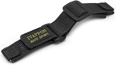IVAPPON Hook Loop NATO Adjustable Nylon Watch Strap Swiss-Army Style Fastening Watchband