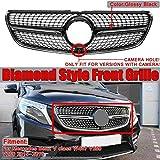 ZQTG Rejilla Material ABS con Apariencia de Diamante con cámara Adecuado para Mercedes Benz Clase V W447 V250 V260 2015-2018, Plata, Plata
