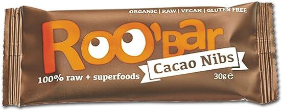 ROO'BAR Kakao-Nibs & Mandel - Rohkost-Riegel mit Superfoods (bio, vegan, glutenfrei, roh)