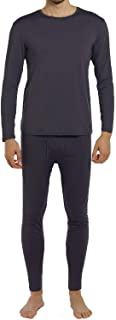 Men's Thermal Underwear Set Fleece Lined Long Johns Winter Base Layer Top & Bottom Sets for Men