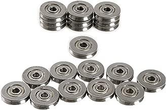 SaferCCTV 20pcs V Groove Pulley High Carbon Steel Rail Ball Bearings Wheel V624ZZ 4136mm, 1.5mm Deep