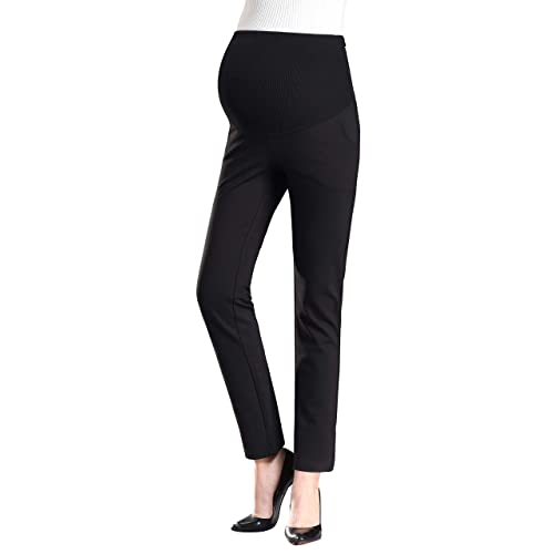 4342f48402a8b Foucome Womens Maternity Bootcut Stretch Career Dress Pants Work Office  Over-Bump Trousers