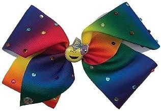 JoJo Siwa Signature Collection Hair Bow - Rainbow Emoji Rhinestones