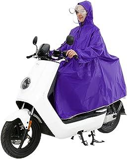 XRXY 大人の乗り物レインコート/ダブルレイヤードバイザーオートバイレインコート/スリーブ付き個別の厚い防風ポンチョ(7色展開) ( 色 : C )