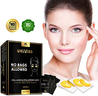 Belvizo Collagen Under Eye Mask Treatment w/Hyaluronic Acid + Soy Protein + Grapefruit Extract |Anti Dark Circles, Eye Bags, Puffiness, Anti Wrinkle |Hydro Gel Under Eye Patches. 24k Gold.