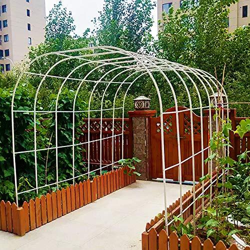 Arco per Rose per Piante Rampicanti Pergolato Indipendenti Portafiori 240x220x25cm Decorazione Cerimonia di Cerimonia Nuziale Arco da Giardino Nero, Bianco, Verde