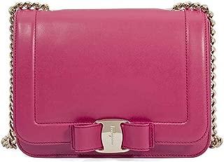 Salvatore Ferragamo women's leather cross-body messenger shoulder bag vara raimb