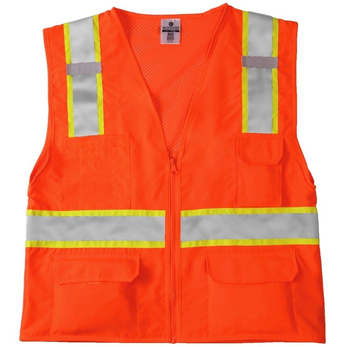 Kishigo 1164 Ultra-Cool Mesh Back Solid Front Vest, 3X-Large, Orange
