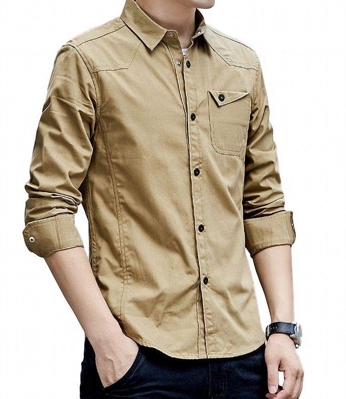万歳グローバル落ち着いて[ヴォンヴァーグ] シャツ ワイシャツ アウター カットソー トップス ボタン カジュアル クレリック お洒落 メンズ
