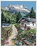 Royal Paris Tapestry/Kit de punto de cruz.–vacaciones en los Alpes