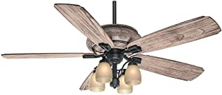 Casablanca 55052 Heathridge 60-Inch Tahoe Ceiling Fan with River Timber Non-Reversible Blades and Four Light Kit