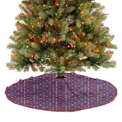 ThinkingPower Falda rústica para árbol de Navidad, figuras vibrantes, lunares, decoración de vacaciones, un aspecto contemporáneo y atractivo diámetro – 76,2 cm