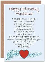 Wee Blue Coo Birthday Husband Love Poem New Art Greetings Gift Card