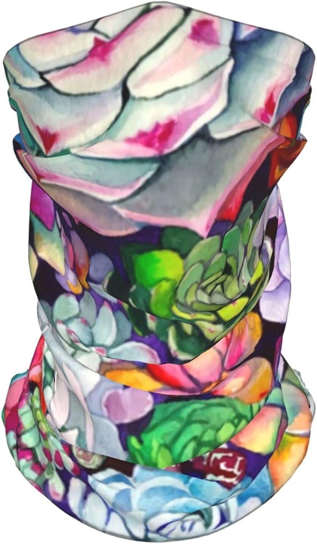 Summer Sea Beach Seashell Neck Gaiter Multipurpose Headwear Ice Silk Mask Scarf Summer Cool Breathable Outdoor Sport 4 Pcs