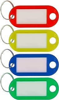 scrivibile colori assortiti Set di 4 portachiavi con anello