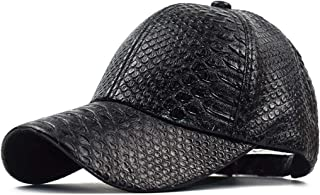 INOGIH ثعبان جلد البيسبول كاب للجنسين عارضة أبي قبعة قابل للتعديل Snapback للنساء الرجال