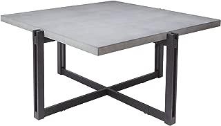 Silverwood FT1275-COF-SCC Dakota Coffee Table with Square Concrete Finish Top, 39