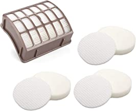 CuLety 3 Foam Filters + HEPA Replacement Vacuum Filter for Shark Navigator Professional Upright Vacuum NV70, NV80, NVC80C, UV420 Shark Rotator Professional XL Capacity NV90 Fit Parts XFF80 XHF80