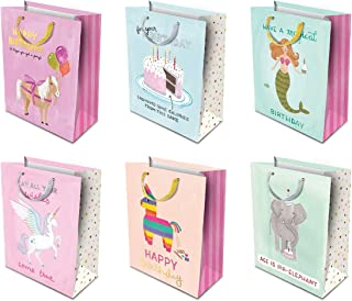 Studio Oh! 6-Piece Gift Bag Assortment Available in 4 Different Bundles, Birthday by Anne Was Here