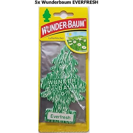 5 X Wunderbaum Lufterfrischer Everfresh 134218 Auto