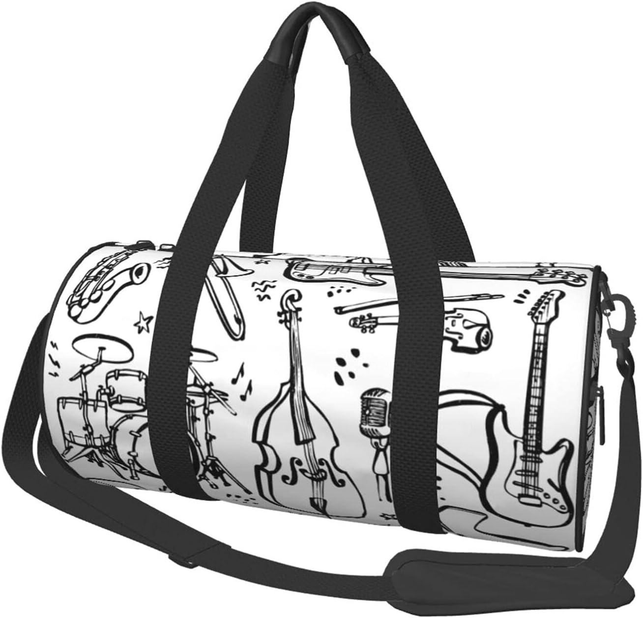 Fredeulva Hand Drawn Music 5% OFF Instruments Genuine Free Shipping Canvas Shoulde Bag Duffel