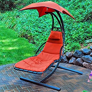 Best backyard creations hanging lounger red Reviews
