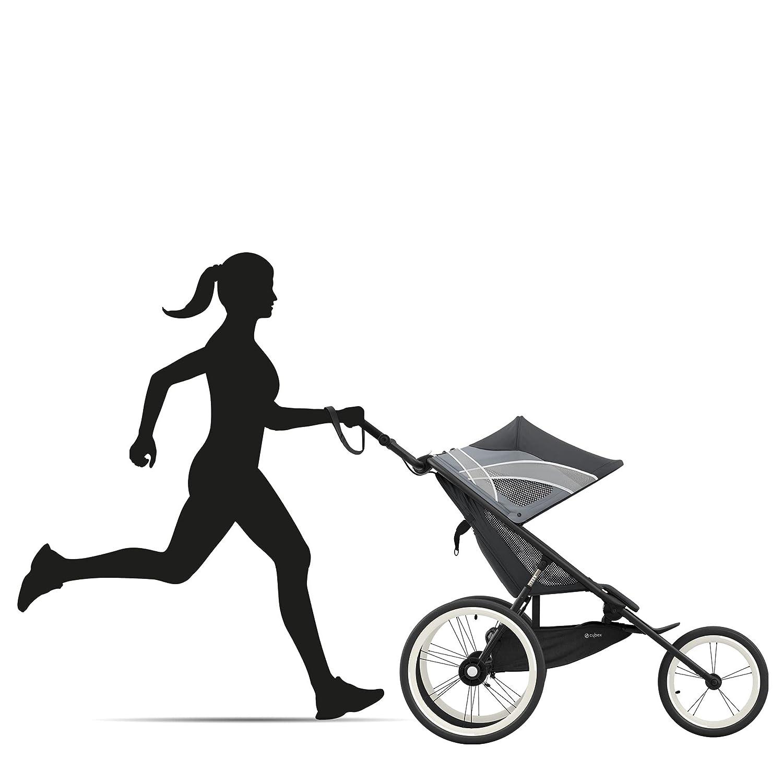 CYBEX AVI Jogging Stroller, Lightweight Aluminum Frame, Compact Fold for Storage, Height-Adjustable Handlebar with One-Handed Steering, Rear-Wheel Suspension & Handbrake, For Infants 9 months+