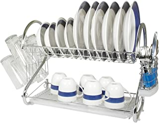 Better Chef DR-22, 22-Inch, Chrome Plated, S-Shaped, Rust-Resistant, 2-Tier Dishrack