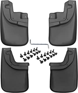biosp Auto Mud Flaps Splash Guards for Toyota Tacoma 2016 2017 2018(OEM Factory Fender Flares) Front and Rear Fender Cover-Custom Fit Black ABS Molded 4Pcs Set