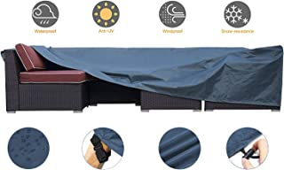 JCGARDEN Extra Large Outdoor Furniture Cover Waterproof Dust Proof Durable Patio Sectional Couch Cover Protective Loveseat Cover 126x126x28 Inch