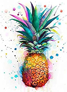 5D Full Drill Diamond Painting Pineapple Plants Fruit Kits for Adults Paint by Numbers DIY Gem Art Craft for Kids Gift Wal...