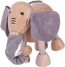 3D Bloques de construcción de Elefante Lindo de Madera simulación de muñeca Decorativa Modelo Animal bebé niños Juguete de Aprendizaje