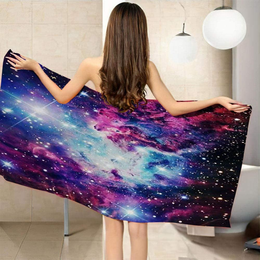 ZCLCHQ Beach Towel Quick shop Drying Microfibre 3D Our shop most popular Sky Starry Blue