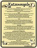 Rahmenlos 3417 Schild: Katzenregeln