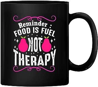 HAPPY MUG, Custom Food is Fuel Not Therapy Ceramic Mug Gift Wedding Mugs Thank You Wedding Gifts Custom Mug Ceramic Mug Coffee Mug BMUG-251