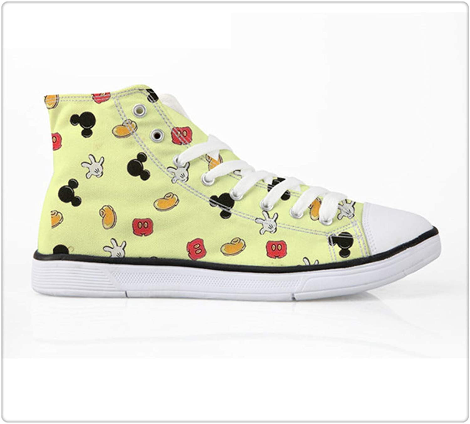 AAKOPE& Cute Cartoon Flat shoes Women Lacing Casual Canvas shoes Youth Girl Brand Design High-top Vulcanize Canvas shoes H5255AK 41