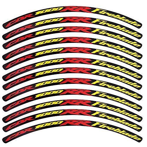 ! 12 Pegatinas para Llantas de Honda CBR 1000 RR FIREBLADE, diseño...