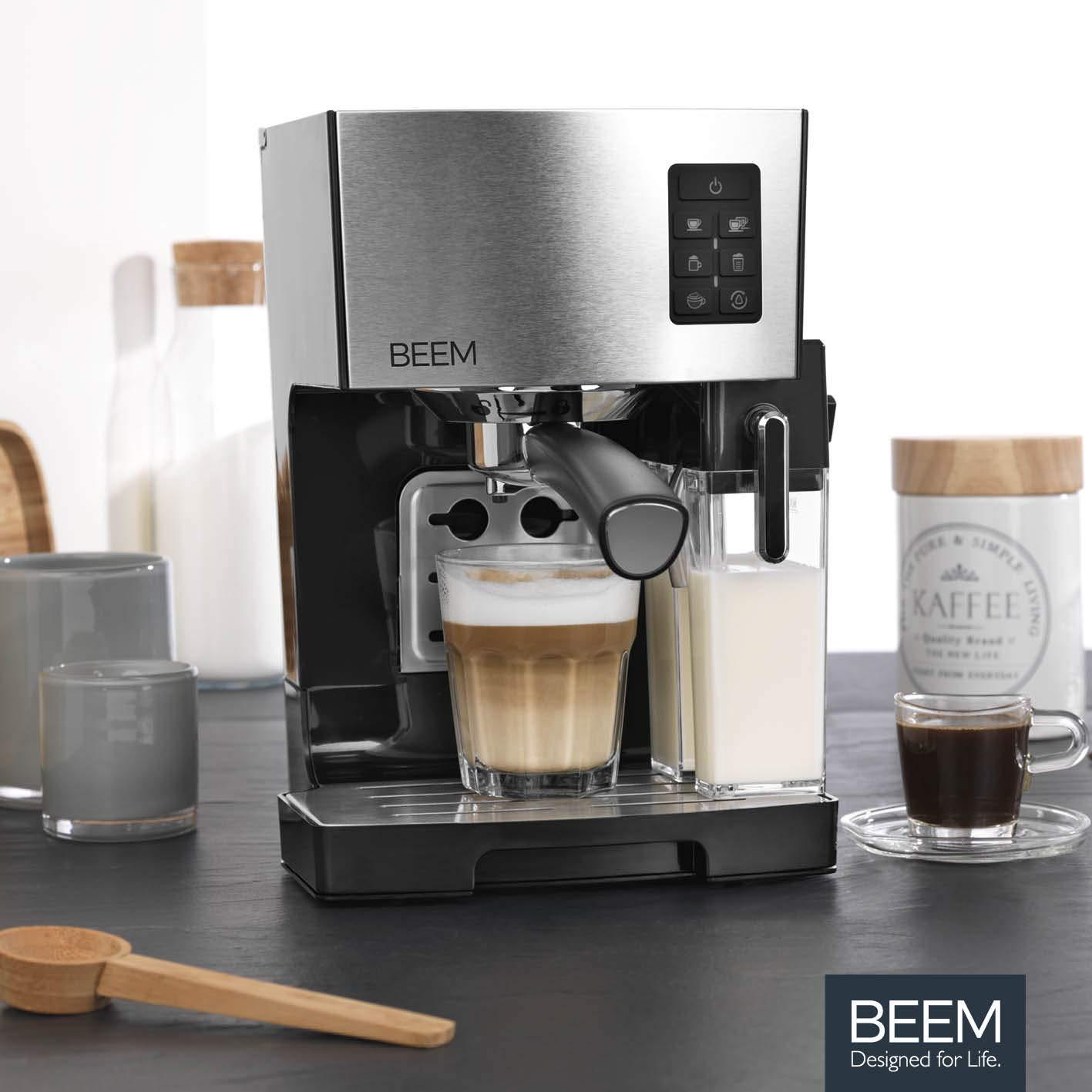 BEEM máquina de Espresso Classico con Tanque de Leche Integrado y ...