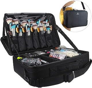 Relavel Professional Makeup Train Case Cosmetic Bag Brush Organizer and Storage..